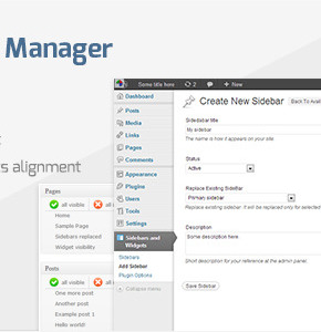 Sidebar & Widget Manager Wordpress - плагин менеджер сайдбаров и виджетов