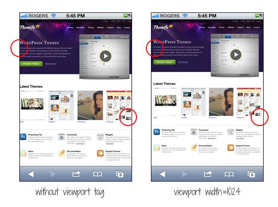 HTML: Viewport мета тег для не адаптивного дизайна сайта (non responsive design)
