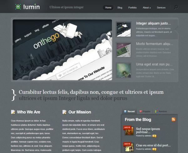 Тема для блога Lumin Eleganttheme