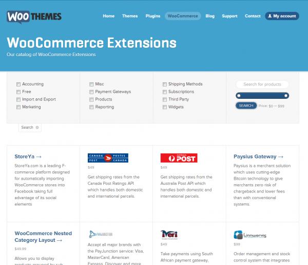 Страница покупки плагинов для WooCommerce