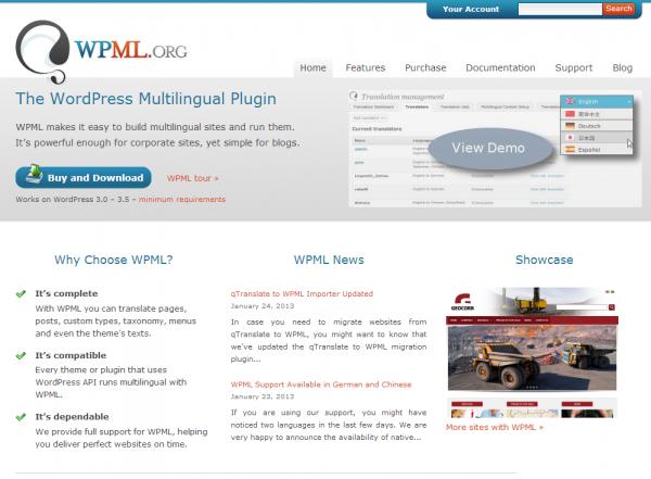 Официальный сайт WordPress Multilingual Plugin