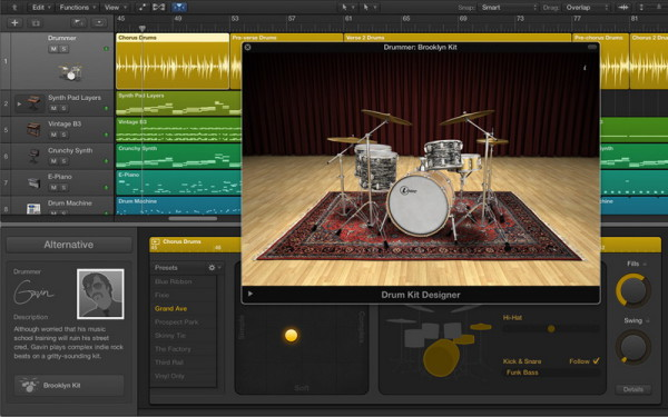 Drummer in Logic Pro X